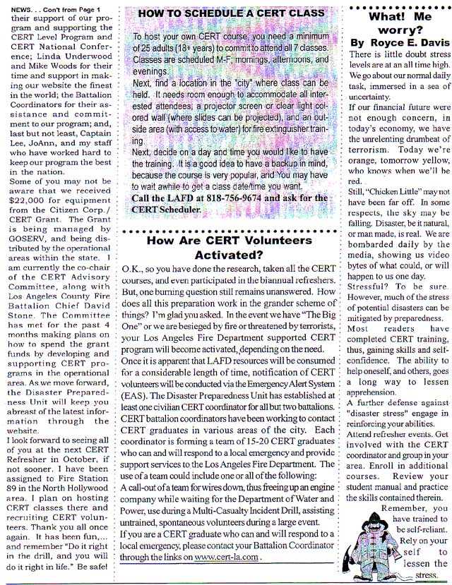 Cert Spring 2003 Newsletter